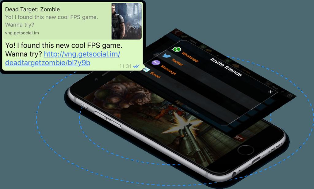 app referrals deep linking getsocial