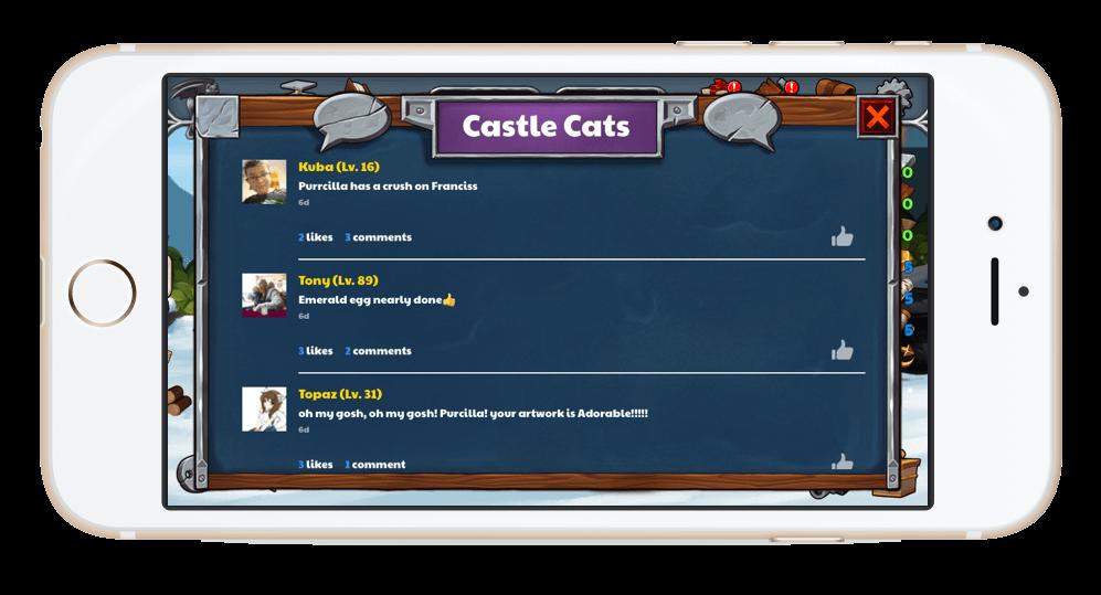 CastleCats activityfeed